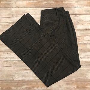 LOFT | Plaid Wide Leg Trousers